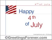 Greeting ecards: Fourth of July ecards