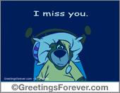 I Miss you ecard