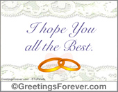 Wedding ecards - Greeting ecards: All the best...