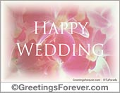 Wedding ecards - Greeting ecards: Happy Wedding
