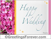 Happy Wedding ecard