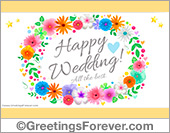 Wedding ecard with flowers