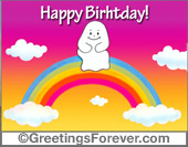Ghost - Greeting ecards: For your birthday...