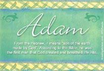 Name Adam