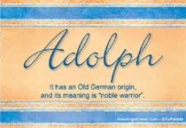 Name Adolph