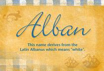 Name Alban