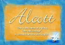 Name Alcott
