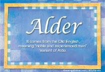 Name Alder