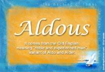Name Aldous