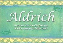 Name Aldrich
