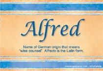 Name Alfred