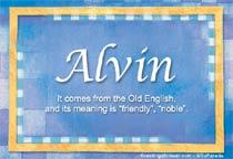 Name Alvin