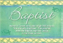 Name Baptist