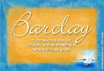 Name Barclay
