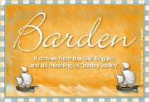 Name Barden