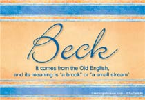 Name Beck