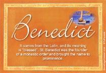 Name Benedict