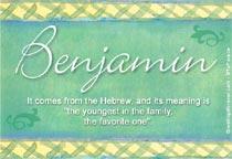 Name Benjamin