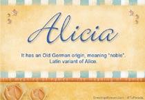 Name Alicia