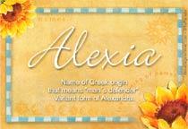Name Alexia