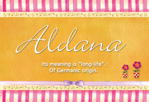 Name Aldana