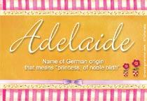 Name Adelaide