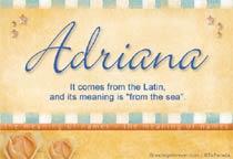 Name Adriana