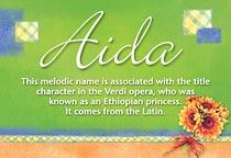 Name Aida