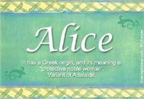Name Alice