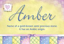 Name Amber