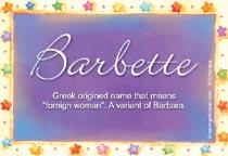 Name Barbette