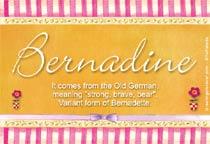 Name Bernadine