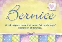Name Bernice