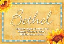 Name Bethel