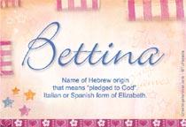 Name Bettina