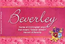 Name Beverley