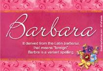 Name Barbara