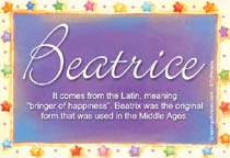 Name Beatrice