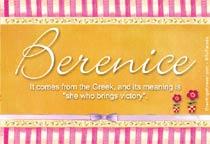 Name Berenice