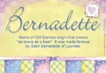 Name Bernadette
