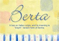 Name Berta