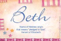 Name Beth