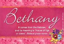 Name Bethany