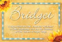 Bridget Name Meaning - Bridget name Origin, Name Bridget ...