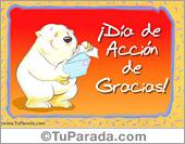 Tarjetas postales: Osito para Día de Acción de Gracias