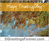 Greeting ecards: Thanksgiving