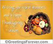 A happy Thanksgiving season