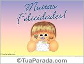Cartões postais: Muitas felicidades!