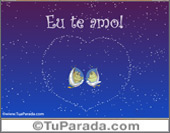Cartões de Amor - Cartões postais: Eu te amo!