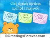 Greeting ecards: Surprise ecard